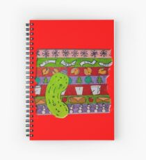 A Mid-west Christmas Spiral Notebook