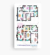 House of Simpson family - Both floors Metal Print