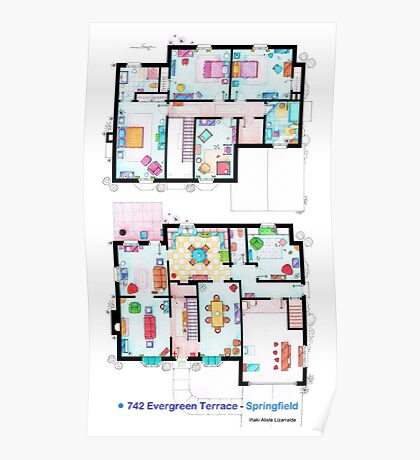 House of Simpson family - Both floors Poster