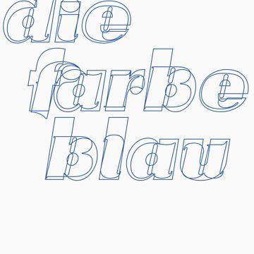 Die farbe blau by superorange
