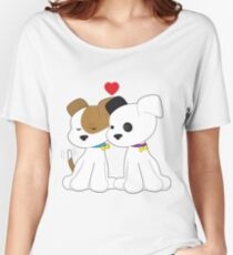Puppy Couple Women's Relaxed Fit T-Shirt