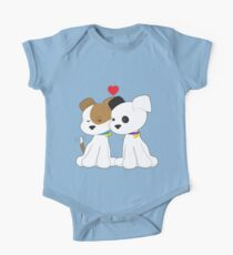 Puppy Couple One Piece - Short Sleeve