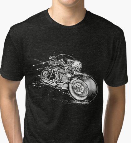 Skeleton Rider Tri-blend T-Shirt
