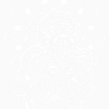 Ganesh (white outline style) by NateLuna
