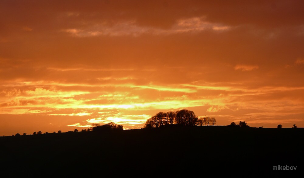 Sunset over the Ouse Valley by mikebov