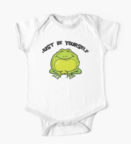 "Funny Frog ""Just Be Yourself"" Kids Clothes"