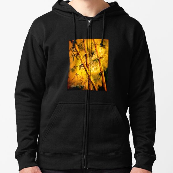 Heat And Old Bamboo... Zipped Hoodie