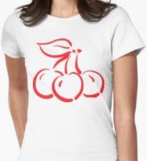 "Women's ""Cherry"" Womens Fitted T-Shirt"