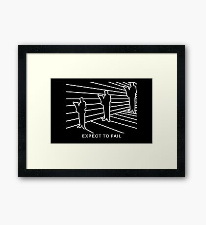 Ames Room - Expect to Fail VRS2 Framed Print