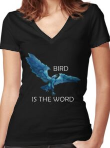 Anivia- Bird is the Word Women's Fitted V-Neck T-Shirt