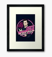 Jeff Winger: Speech Coach Framed Print