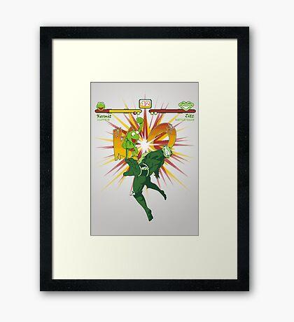 SWAMP FIGHTER Framed Print