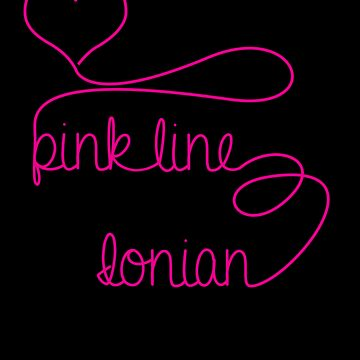 Pink Line Heart by jdotcole