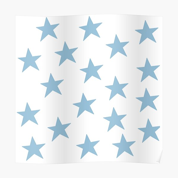 Blue stars Poster