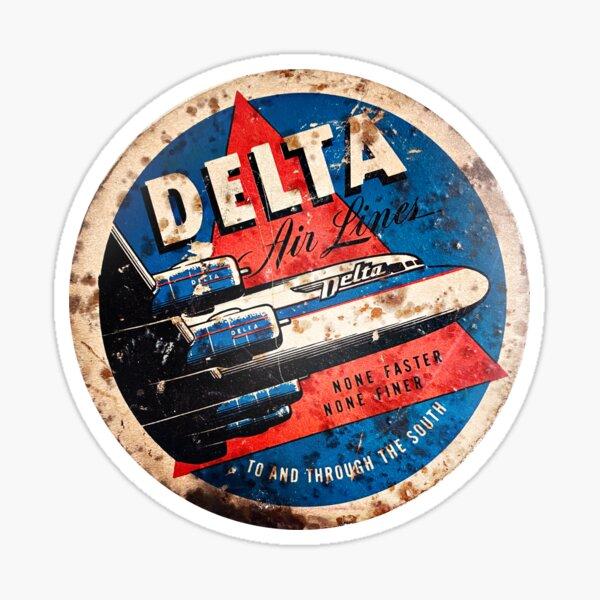 Authentic Vintage Delta Air Lines Luggage Sticker Sticker