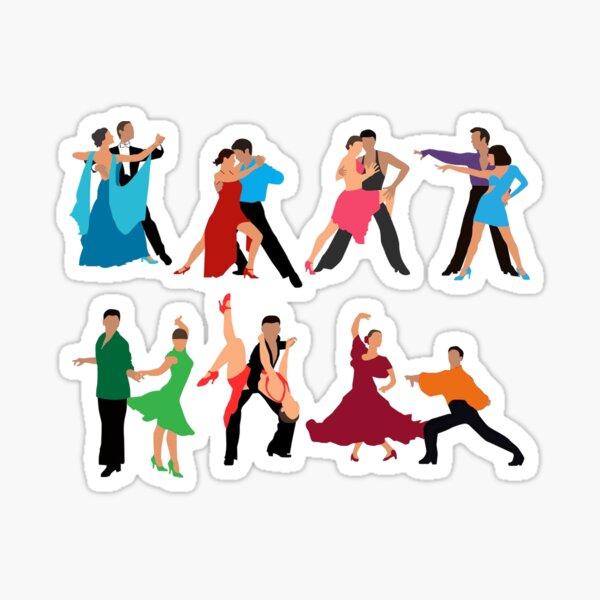 Ballroom Couples Dancing Sticker