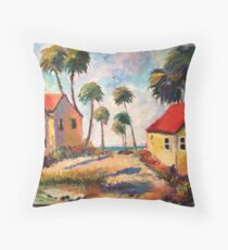 Cottages on the Gulf of Mexico Throw Pillow