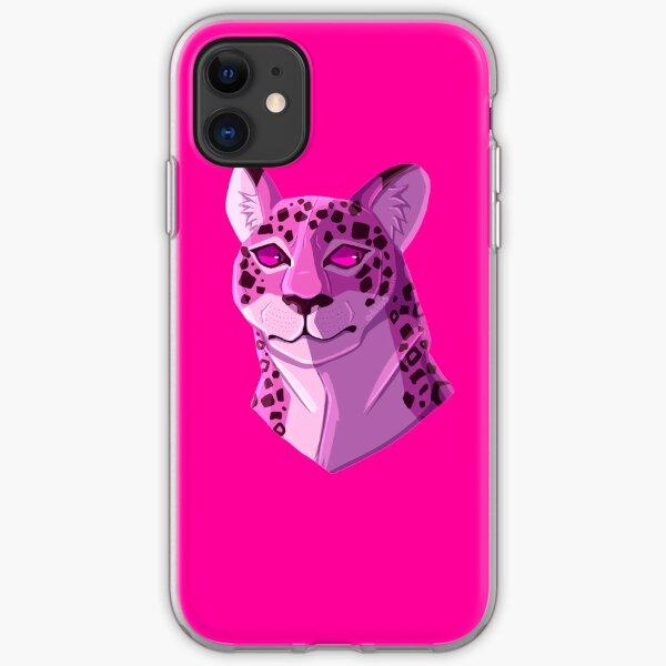 Kipo Pink/Purple Jaguar  iPhone Soft Case