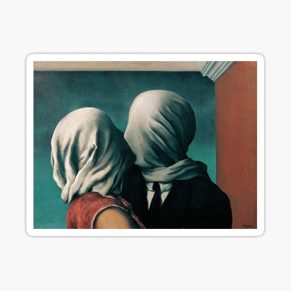 Rene Magritte The Lovers II Sticker