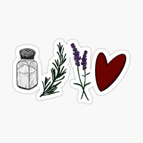 Salt, Rosemary, Lavender, & Love Sticker