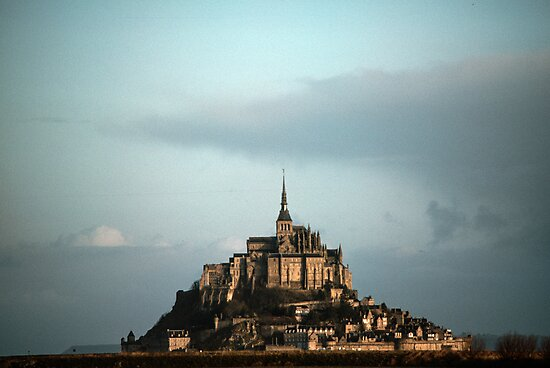 Mont St Michel early morning 19840220 0003 by Fred Mitchell