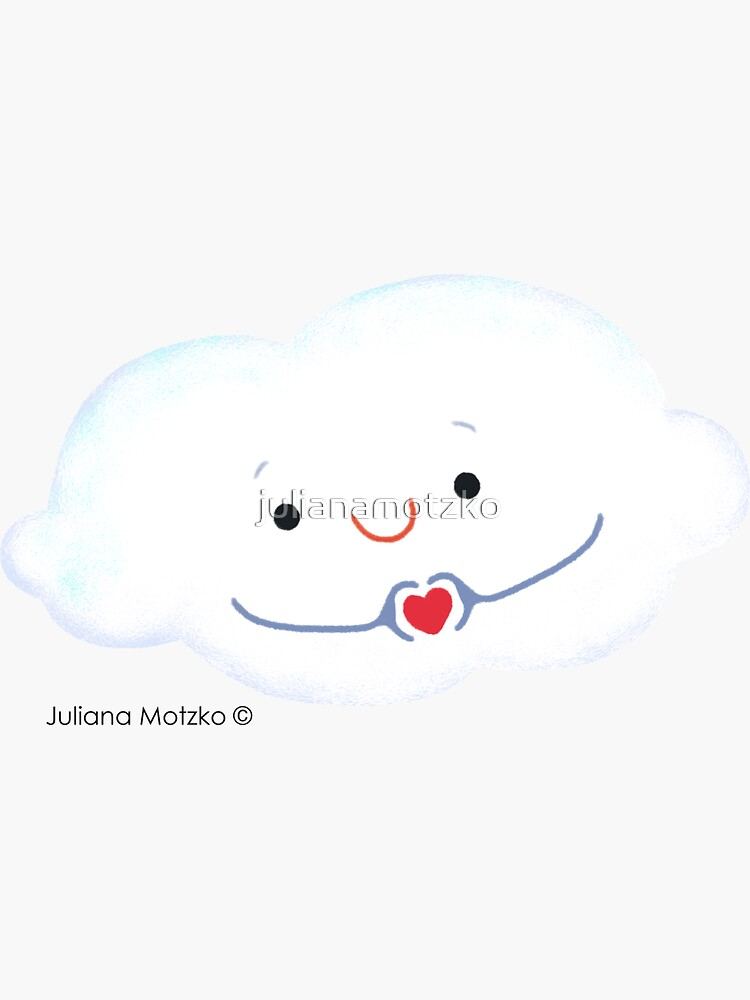 Cloud doing a heart with hands by julianamotzko