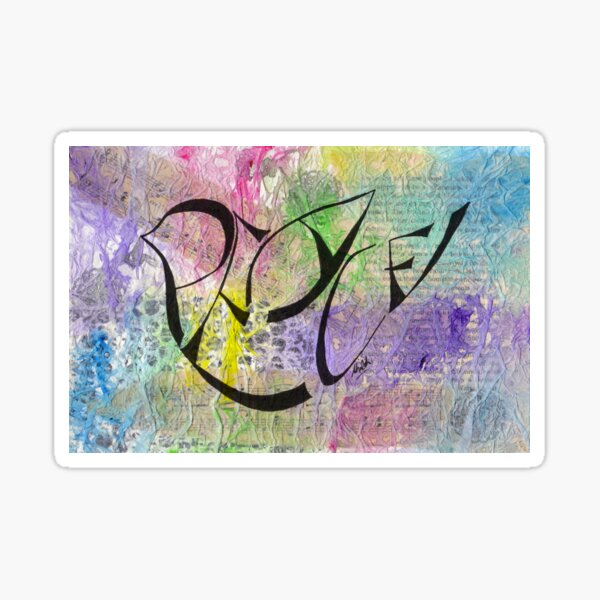 PEACE Dove (May Peace Be With You) Sticker