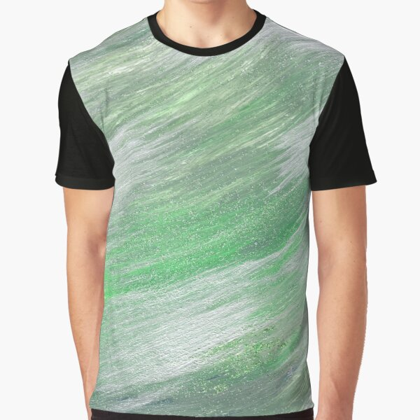 Green and Silver swirl Graphic T-Shirt
