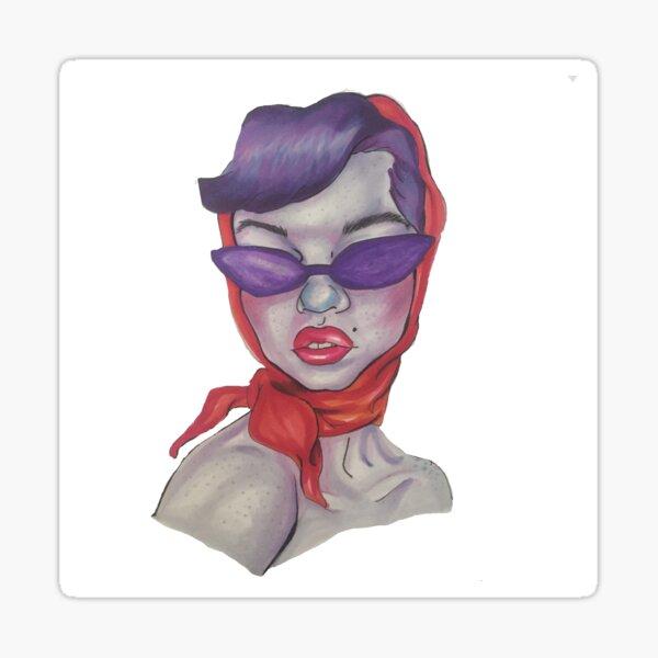 Retro Vintage Sunglasses Sticker
