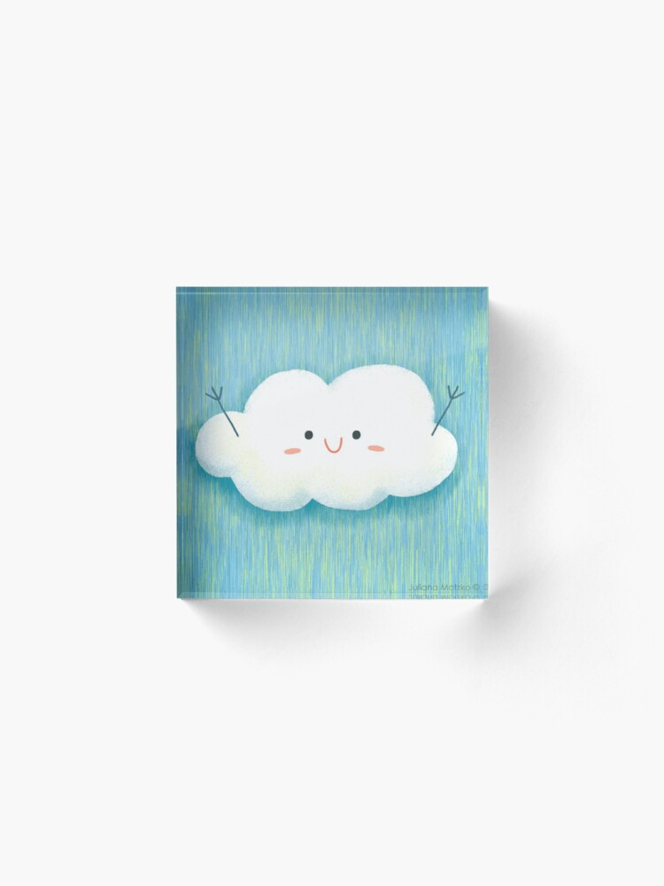 Alternate view of Happy Hug Cloud Acrylic Block