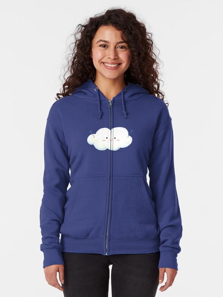 Alternate view of Happy Hug Cloud Zipped Hoodie