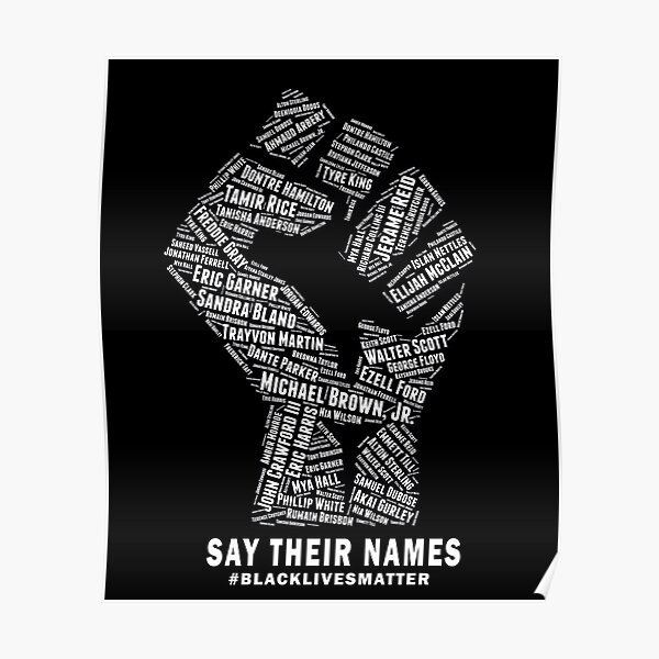 Black Lives Matter: Say Their Names Poster