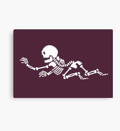 Crawling Skeleton VRS2 Canvas Print