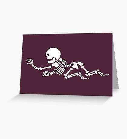 Crawling Skeleton VRS2 Greeting Card