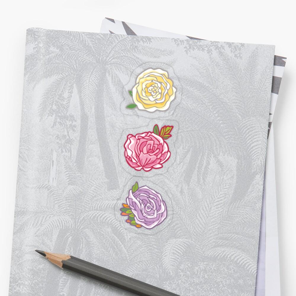 Decorative Roses Sticker