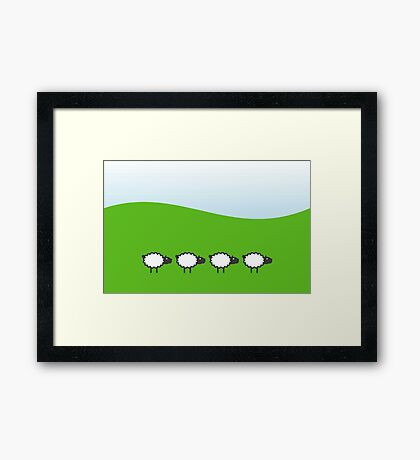 Four Sheep VRS2 Framed Print