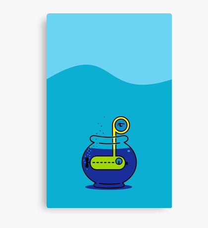 Yellow Submarine in a Bowl VRS2 Canvas Print