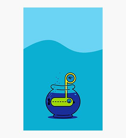 Yellow Submarine in a Bowl VRS2 Photographic Print