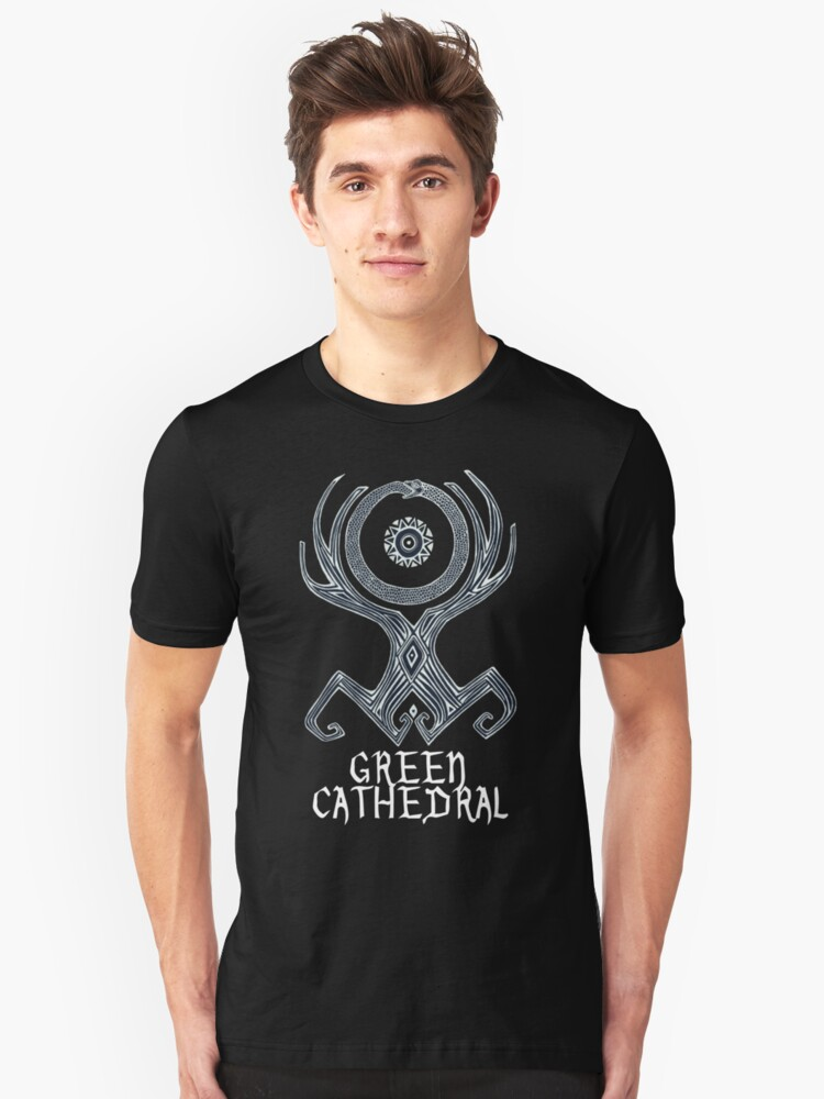 Green Cathedral T-Shirt Design Unisex T-Shirt Front