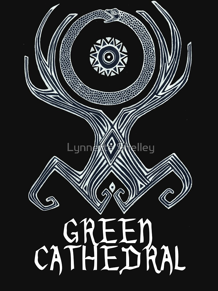 Green Cathedral T-Shirt Design by LynnetteShelley