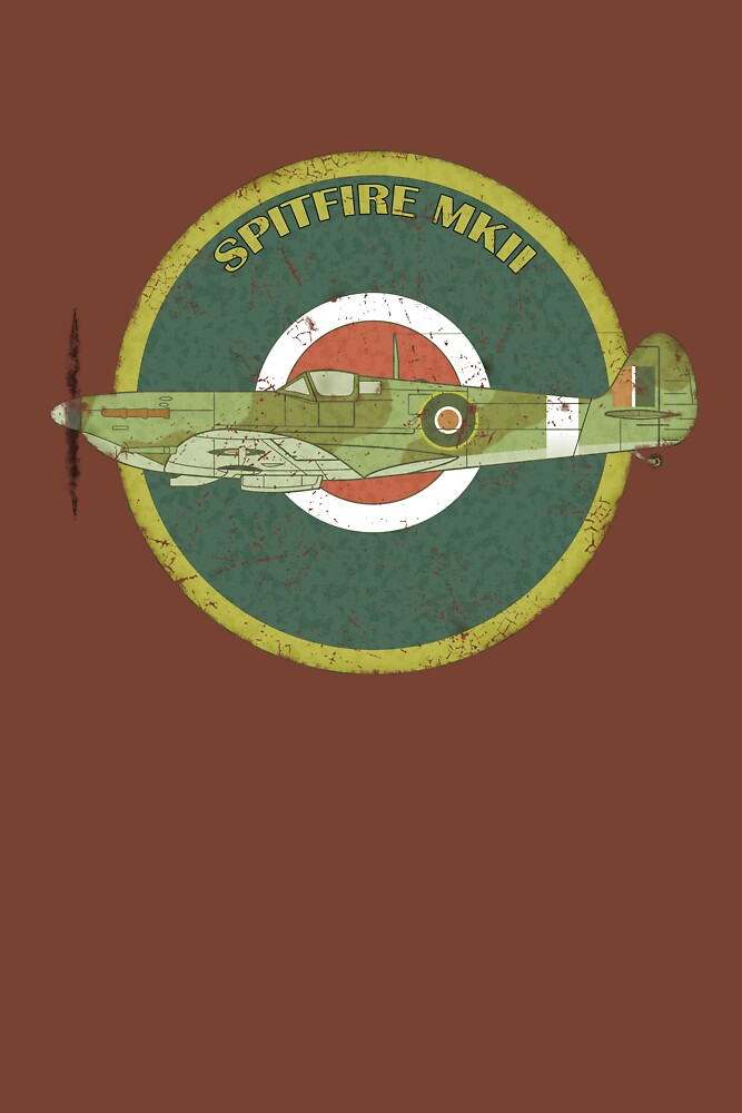 RAF MKII Spitfire Vintage Look Fighter Aircraft by astralsid