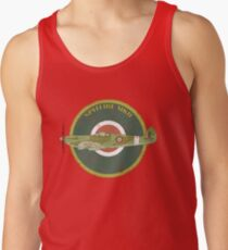 RAF MKII Spitfire Vintage Look Fighter Aircraft Tank Top