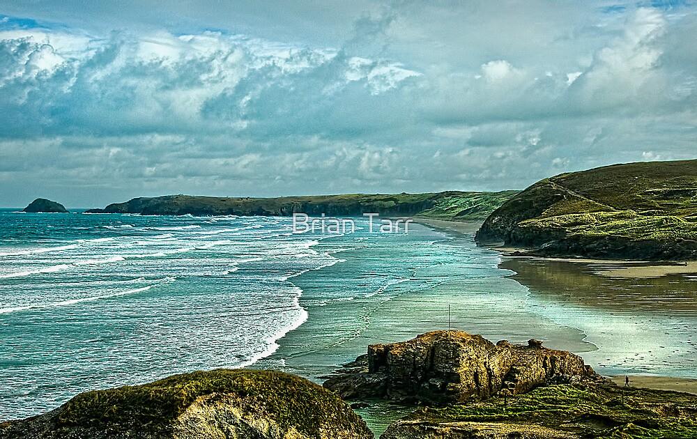 Perranporth Beach Cornwall by Brian Tarr