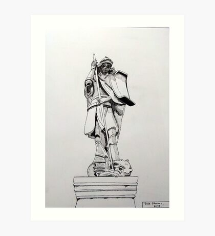 241 - JOHNSTOWN WAR MEMORIAL - DAVE EDWARDS - INK - 2013 Art Print