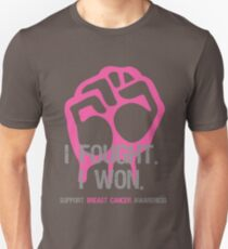Fought & Beat Breast Cancer Awareness T-Shirt
