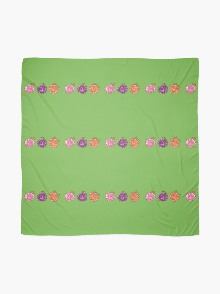 Alternate view of Decorative Roses Scarf