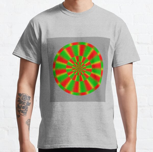 Color-dependent motion illusions in stationary images and their phenomenal dimorphism  Classic T-Shirt