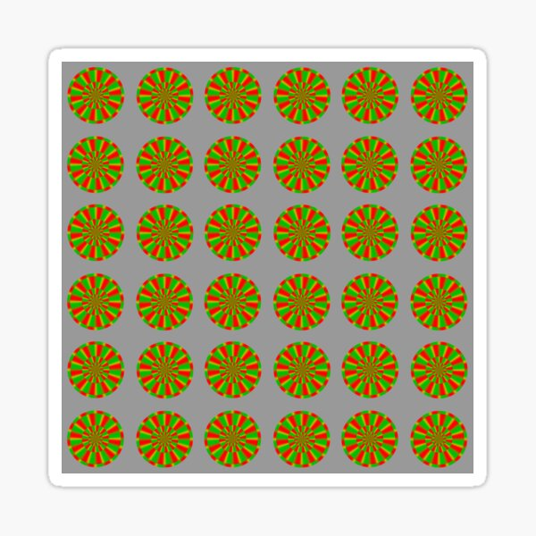 Color-dependent motion illusions in stationary images and their phenomenal dimorphism  Sticker