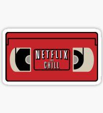 NETFLIX AND CHILL Sticker