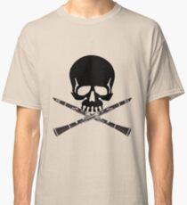 Camiseta clásica Cráneo con calavera de clarinete